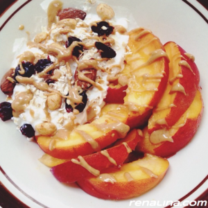Peaches + Cottage Cheese + Some Crunch